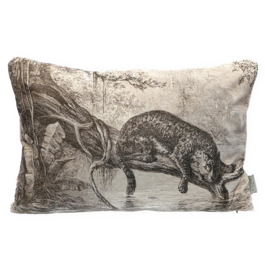 Samt-Kissen Leopard mit Inlett