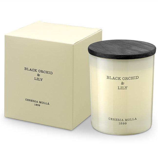 Black Orchid &  Lily Kerze