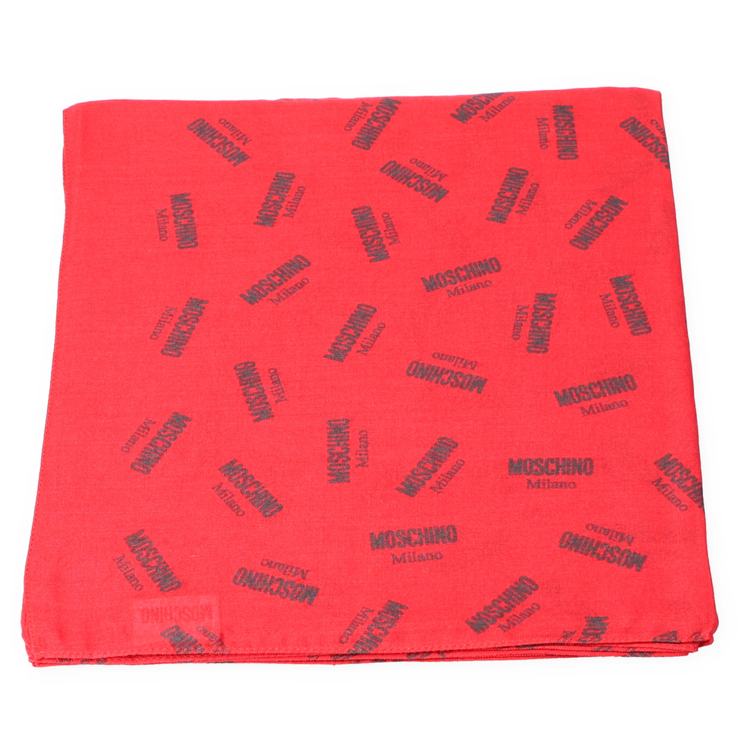 Schal rot mit Label - Druck