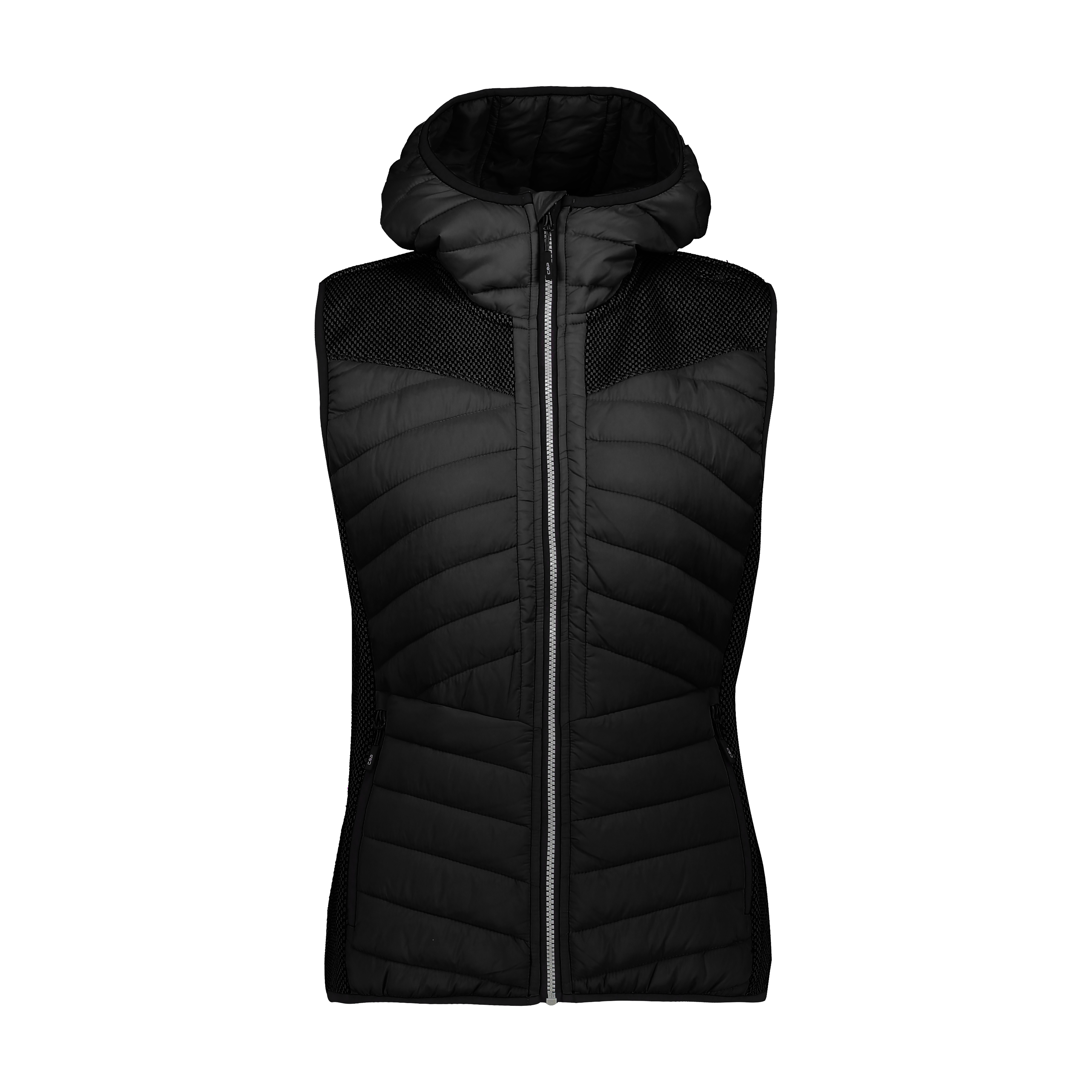 Woman Vest Fix Hood