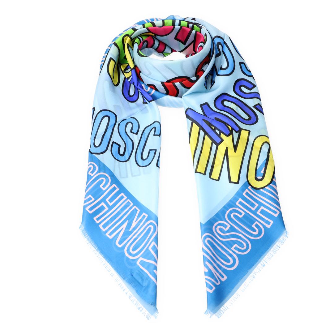 Bunter Schal mit Logo-Print